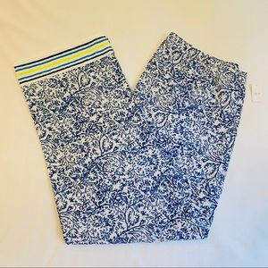 Gap LOVE poplin pajama pants with lime stripe, Lg
